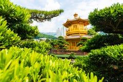 Nan Lian Garden ist ein allgemeiner Park der Regierung, der am Diamanten aufgestellt wird Lizenzfreies Stockbild