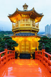Nan Lian Garden på Diamond Hill i Hong Kong Arkivfoton