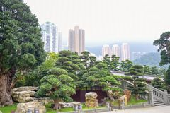 Nan Lian Garden, un jardin classique chinois en Diamond Hill, Hong Kong images stock