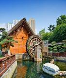 Nan Lian Garden. Waterwheel at Nanlian Garden in Diamond Hill District of Hong Kong, China Stock Photos