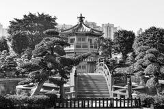 Nan Liana ogród oaza relaks w sercu Hong K Fotografia Royalty Free