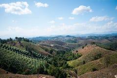 Nan mountain landscape. Nan Thailand Royalty Free Stock Photos