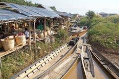 Nan Pan village market Myanmar. Nan Pan village market on the Lake Inle, Shan State, Myanmar Stock Images