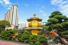 NAN The Pavilion av absolut perfektion inom Nan Lian Garden Hong Kong Royaltyfri Foto