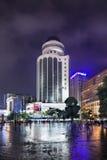 Nan Ping Jie shopping area at night, Kunming, China Stock Photo