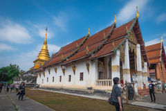 Nan Province, Tailândia - 11 de fevereiro: Wat Phra That Chang Kam W Imagem de Stock