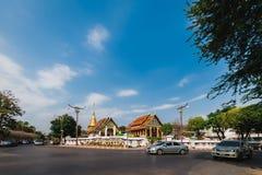 Nan Province, Thailand - 11. Februar: Wat Phra That Chang Kam W Stockbilder