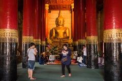 Nan Province, Thailand - 11. Februar: Wat Phra That Chang Kam W Lizenzfreie Stockfotos