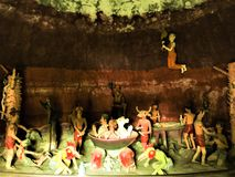 Nan, Tailandia-aprile 13,2018: Wat Phu Mintr, tempio, Nan: I buddisti del tempio della Tailandia credono che il malfattore dopo l immagine stock libera da diritti