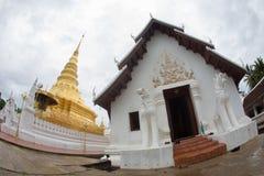 NAN, TAILANDIA 29 de julio: Templo y Plac de Wat Phra That Chae Haeng Imágenes de archivo libres de regalías