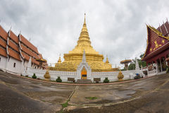 NAN, TAILANDIA 29 de julio: Templo y Plac de Wat Phra That Chae Haeng Imagen de archivo libre de regalías