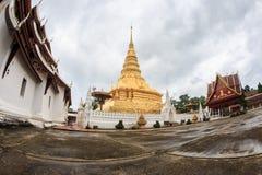 NAN, TAILANDIA 29 luglio: Tempio e Plac di Wat Phra That Chae Haeng Fotografia Stock Libera da Diritti
