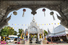 NAN ,THAILAND - APRIL 14 : Songkran festival at City pillar, Wat Stock Images