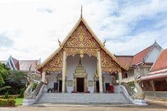 NAN, THAILAND 29 Juli: Wat Phraya Phu Places van verering en tem Stock Afbeeldingen