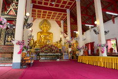 NAN, THAILAND 29 Juli: Wat Phraya Phu Places van verering en tem Stock Foto's