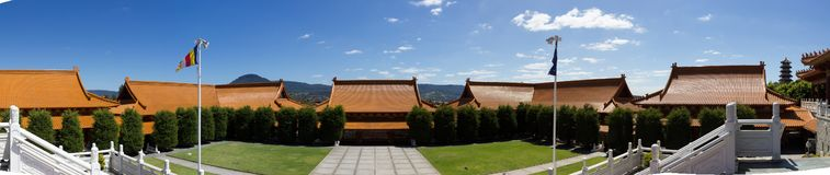 Panorama of Nan Tien Temple Buddha religion in Australia. Nan Tien Temple Buddha religion in Australia, New South Wales royalty free stock images