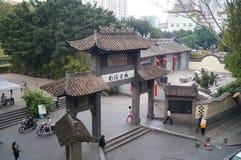 NaN TU av Shenzhen den forntida staden Arkivfoton