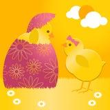Nana de Pâques en oeuf de pâques Image stock