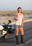 Nana humide de cycliste Photos libres de droits