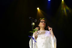 Nana Mouskouri lizenzfreie stockfotografie