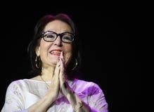 Nana Mouskouri lizenzfreie stockfotos