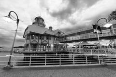 NANAIMO, ΚΑΝΑΔΑΣ - 13 ΑΥΓΟΎΣΤΟΥ 2017: Φω'τα του περιπάτου πόλεων alon Στοκ εικόνες με δικαίωμα ελεύθερης χρήσης