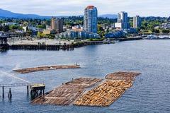 Nanaimo BC met Registreren Stock Foto