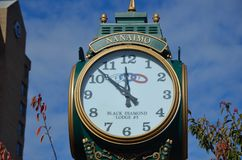 Nanaimo clock post royalty free stock photography