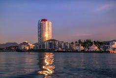 Nanaimo-Hafen vom Meer Stockbild