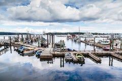 Nanaimo hamn på den Vancouver ön, F. KR., Kanada Arkivfoton