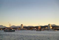 Nanaimo hamnskymning, British Columbia Royaltyfri Bild