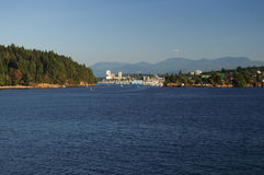 Nanaimo Harbour, BC. View of Departure Bay and Nanaimo harbor on Vancouver Island, BC Stock Photos