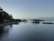 Nanaimo-Küstenlinie Stockfoto