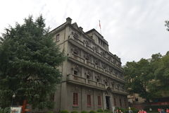Nanchang Bayi Uprising Memorial Hall. At 2 o`clock on August 1, 1927, with a gunshot that shocked the world 81 Nanchang Uprising started, and orchids, the Royalty Free Stock Image