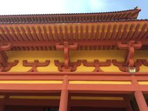 Beautiful carved eaves-Nanchang Buddha Temple. Nanchang Buddha Temple, a Buddha statue placed at the gate of the temple stock images