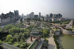 Nanchang, China, Poetic. Poetic is located in the eastern Jiangxi Province, Nanchang Gan river, which the Yellow Crane Tower and the Hubei, Hunan Yueyang Tower Royalty Free Stock Images