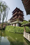Nanchang, China, Poetic. Poetic is located in the eastern Jiangxi Province, Nanchang Gan river, which the Yellow Crane Tower and the Hubei, Hunan Yueyang Tower Royalty Free Stock Photo