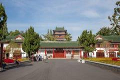The Tengwang pavilion in Nanchang. Nanchang, Jiangxi province, China - September 2017 : Area in front of The Tengwang pavilion in nanchang, one of the four royalty free stock images