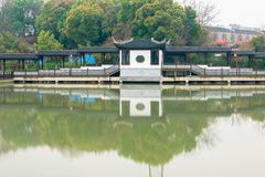 Antique bridges-Nanchang Mei Lake Scenic Area. Nanchang Mei Lake scenic spot in detail, refined garden, curved Pavilion, platform and other types of gardens stock photos