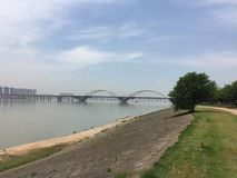 Nanchang rich Great. Dyke,It is water conservancy facilities, and it is also a resort of leisure tourism stock images