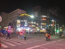 Nanchang& x27;s most prosperous commercial street Stock Photos