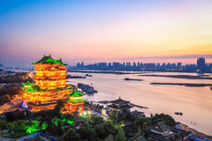 Nanchang scenery of the tengwang pavilion at dusk Royalty Free Stock Photos