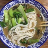 Nanchang soup powder. Is a kind of snack in Nanchang City, Jiangxi Province. Put the rice flour into boiling water and heat it, then put it into the dish and stock photo