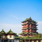 Nanchang tengwang pavilion closeup Stock Photos