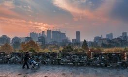 Nanchino il nuovo sguardo della città antica Immagini Stock Libere da Diritti