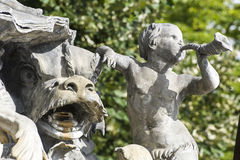 Nancy (Frankrike) - springbrunn i den Stanislas fyrkanten Royaltyfri Foto