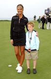 Nancy O'Dell,Michael Douglas. Nancy O'Dell and guest at the 8th Annual Michael Douglas and Friends Presented by Lexus. Trump National Golf Club, Rancho Palos Stock Image