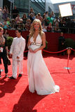 Nancy ODell. Nancy O'Dell arriving at the Primetime Emmys at the Nokia Theater in Los Angeles, CA on September 21, 2008 royalty free stock image