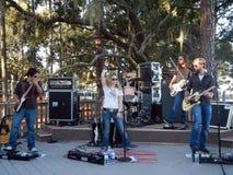 Nancy Stovall - executor e faixa da música country Fotografia de Stock Royalty Free