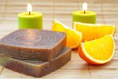Nand robić mydli z pomarańcze fotografia royalty free